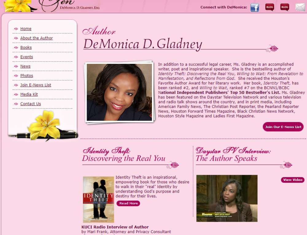 Author DeMonica Gladney